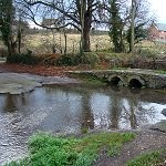 The first bridge over the River Chew at Chewton Mendip