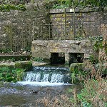 The source of the River Chew at Chewton Mendip, Somerset